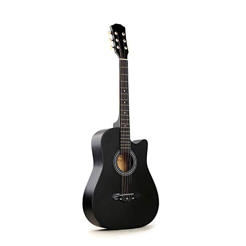 Makan Musical Instruments Frontier Series Acoustic Guitar With Equalizer, 1 pack Strings, Strap, Picks, Capo, Tuner and Guitar Stand With Bag