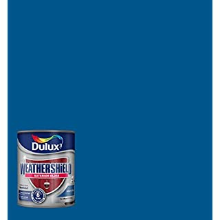 Dulux Weather Shield Exterior High Gloss Paint, 750 ml - Atlantic Blue