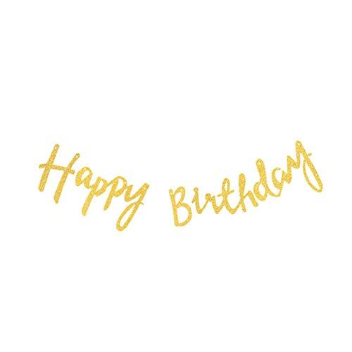 Papier-Wimpelkette mit Aufschrift Happy 60st Birthday, Girlande zum Aufhängen für drinnen und draußen, Papier, Herzlichen Glückwunsch zum Geburtstag, 150 cm ()