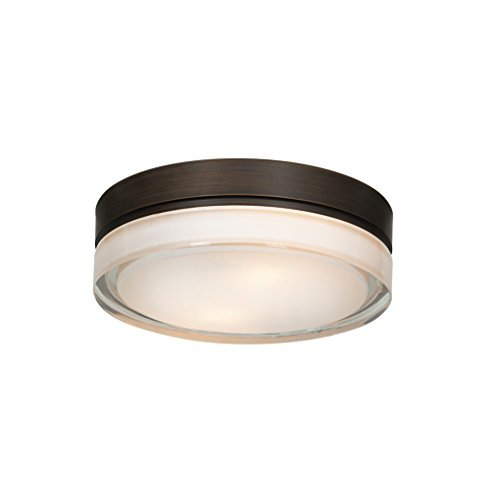 9 Flush-mount (Access Lighting 20775LED-BRZ/OPL Solid LED 9-Inch Diameter Flush Mount with Opal Glass Shade, Bronze by Access Lighting)