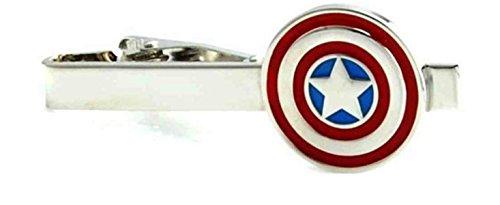 Kapitän Amerika Krawattennadel und Präsentationsbox (Masken Superhelden Weibliche)