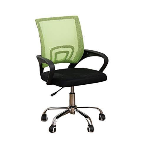 Szq sedia da classe, insegnante per lo studente learn chair net sedia girevole sedia da ufficio girevole per computer confortevole (colore : green)