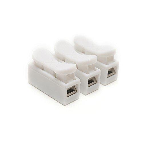 suyep ch-3Spring Draht Stecker Elektrische Kabel Klemme Terminal Block, weiß, CH-3