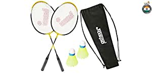 Jaspo Core-JS-200(2 Racket;2 Shuttle Cork;1 Carry Bag)(Multi-Colour)