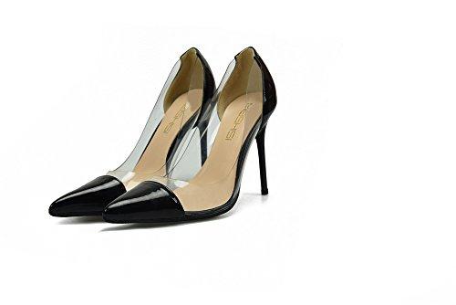 hen Stilettos Sexy Stiletto Heel High Party Dress Schuhe Hochzeit Schuhe Professionelle Stilettos Lackleder,Black,UK7 (Professionelle Uniformen)