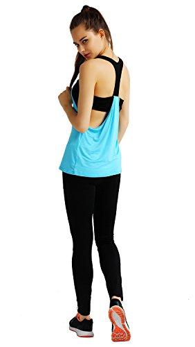HonourSport-Débardeur de Sport à Soutien-Gorge-Femme Bleu
