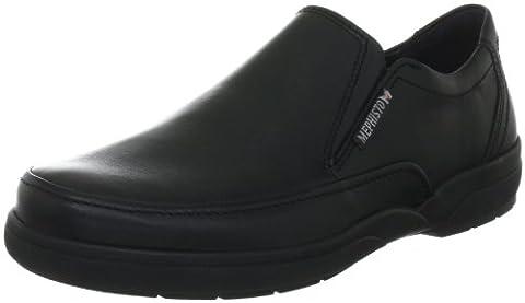 Mephisto-Chaussure Mocassin-ADELIO Noir cuir 3800-Homme, Noir, 43 EU
