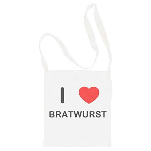 I Love Bratwurst - Langer Schultertasche aus Baumwolle