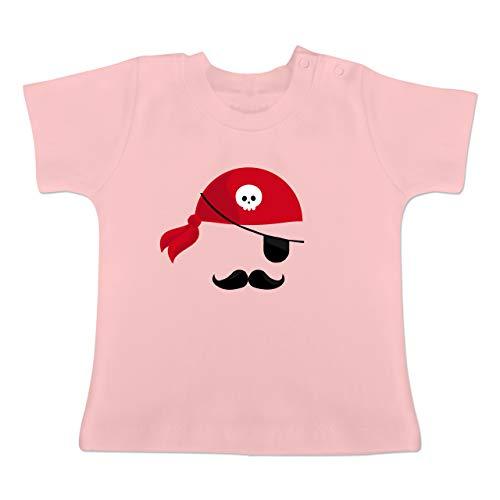 Karneval und Fasching Baby - Pirat Kostüm - 18-24 Monate - Babyrosa - BZ02 - Baby T-Shirt Kurzarm