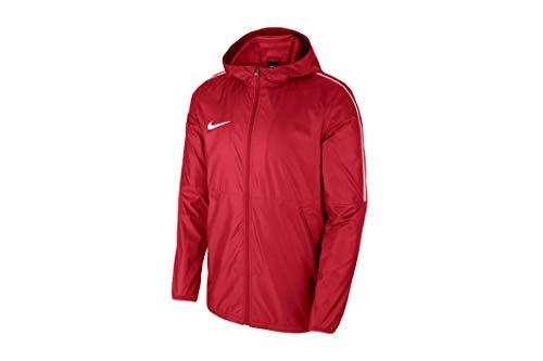 Nike Park18 Rain Jacket, Giacca Antipioggia Unisex Bambino, University Red Bianco, S