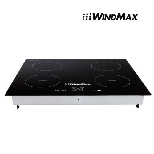 Windmax Stylish 59 ×52 CM (L*W) 8000W Induction Hob 4 Burners Stove Cooktops Glass Plate Electric Cooker