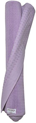 PRANAJAYA Premium Baumwoll-Yogamatte Pilates rutschfest waschbar schadstofffrei 190x70cm groß Fitness (Violett)