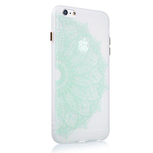 Custodia iPhone 6 Plus,iPhone 6S Plus Cover,SainCat Custodia in Morbida TPU Protettiva Cover per iPhone 6/6S Plus,Creative Design Transparent Silicone Case Ultra Slim Sottile Morbida Transparent TPU G fiore met¨¤