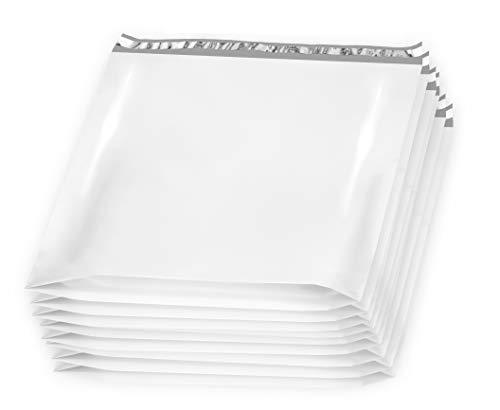 Poly Versandtaschen, 28 x 30 x 6 cm, 10 Stück XXL Polybeutel Versandtaschen für Kleidung. Weiße Versandumschläge. Versandtaschen, Kunststoff, Weiß Peal and Seal. Verpackung und Verpackung -