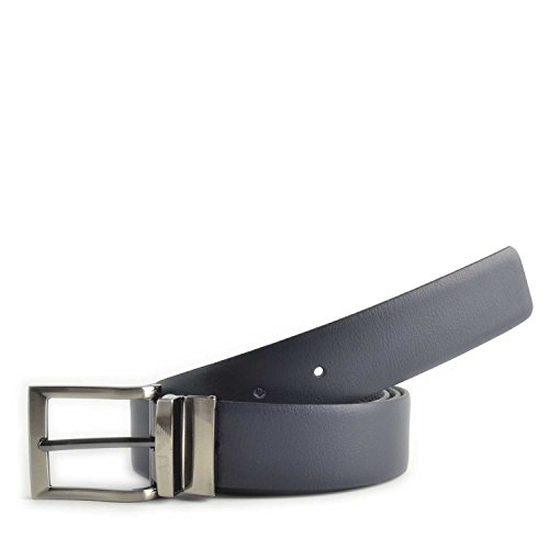 Cintura uomo in pelle Armani Jeans reversibile colore Nero-Blu