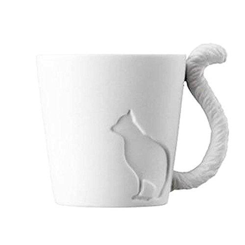 EDAY Becher Kätzchen Romantic Menorah Kaffee/Tee/Espresso/Milch/Wasser/Weiß Kerze Tasse Kreative Märchen Wald Tier Becherhalter Keramik Matt Becher