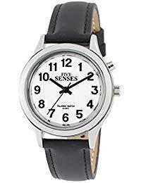 Reloj parlante de 2ª generación, Reloj de Mujer, Tono Plateado, con Alarma y Fecha, 1176