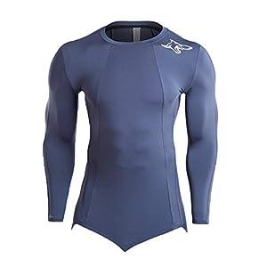 Herren Langarm Kompressionsshirt Strumpfhosen Elastisch Unterhemd Langarmshirt Fitness T-Shirt Top Unterwäsche