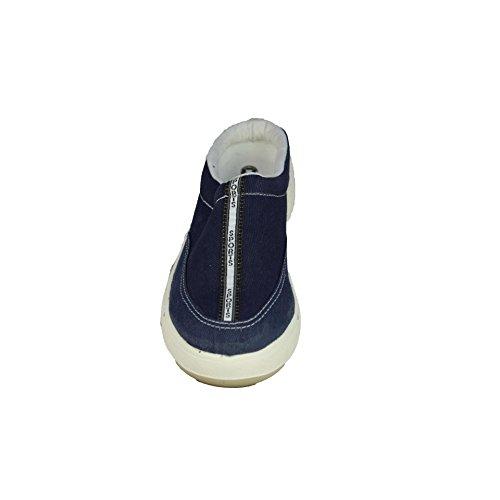 Jallatte Marina Toile Marine P1 Sicherheitsschuhe Arbeitsschuhe Sandale Blau Blau