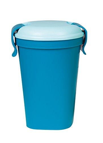 CURVER 6302078Lunch & Go Becher Kunststoff Blau 11x 11x 18cm 600ml