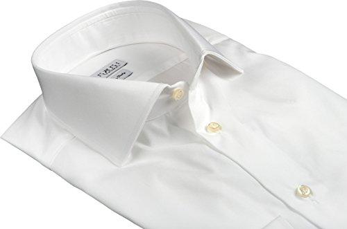 Ernani Camicia Twill Bianco Slim Fit, Slim Fit, collo italiano, uomo - Made in Italy - Bianco