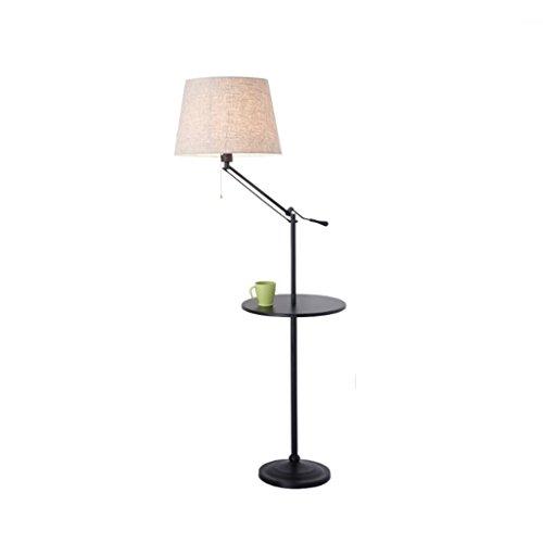 Floor Stand Lights - Lampada da terra Salotto Divano Ferro da caffè Lampada da tavolo Camera da letto Studio creativo Lampada da terra nordica - Design Fixture Lighting (colore : B-Linen+black)