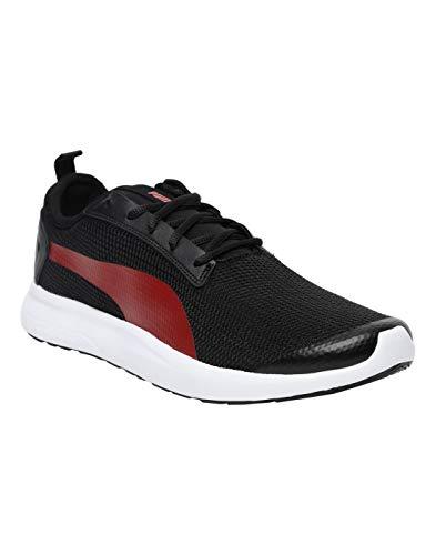 Puma Men's Breakout V2 Idp Black-High Risk Red Sneaker-8 UK (42 EU) (9 US) (36817805)