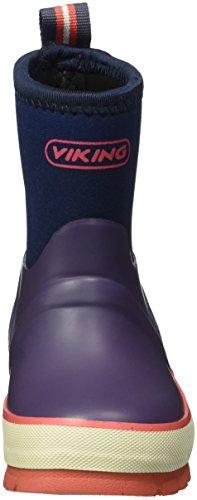 Viking Unisex-Kinder Solan Neo Gummistiefel Violett (Lilac/Multi)