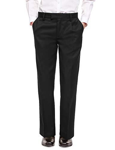 ex-ms-boys-black-grey-slim-fit-skinny-school-trousers-elastic-adjustable-waist-2-16-yrs