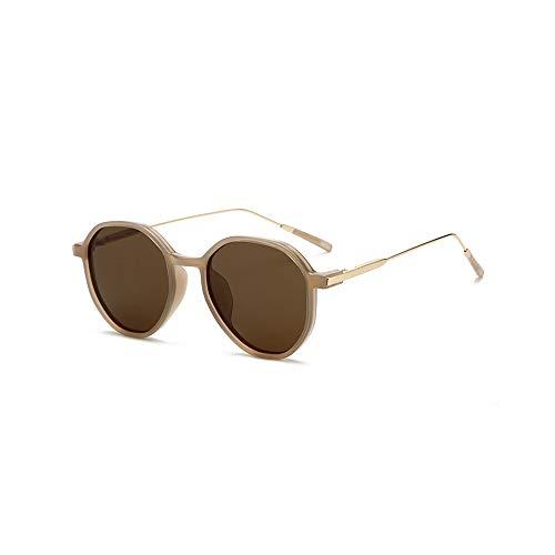 WJFDSGYG Unregelmäßige Ovale Polarisierte Sonnenbrille Frauen Herren Verspiegelte Sonnenbrille Beschichtung Objektiv Treiber Gläser