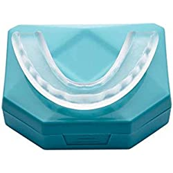 Férula Dental Placa de Descarga Nocturna Protector Bucal para dormir anti Bruxismo Rechinar los dientes y los Trastornos del ATM Apnea del Sueño Anti Ronquidos Roncar