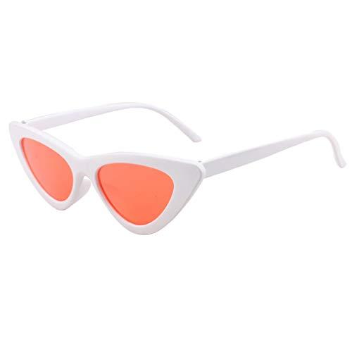OPALLEY Frauen Sonnenbrillen, Frauen-Weinlese-Katzenaugen-Sonnenbrille-Retro- kleiner Rahmen Eyewear arbeiten Damen-Gläser um