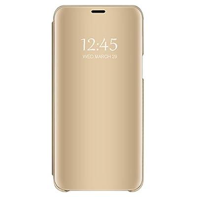 Coque Samsung Galaxy S9 PC Miroir Etui Flip 360° Protection Intégrale Etanche Ultra Mince Anti-Rayures Anti-Choc Housse pour Telephone Galaxy S9 Plus Case