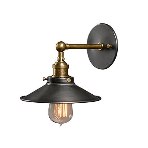 Applique Nordic Industrie Éolienne Américaine Petite Lampe Loft Seule Tête Noire Lampes À Économie D'Énergie Salle À Manger Cuisine Den Chambre