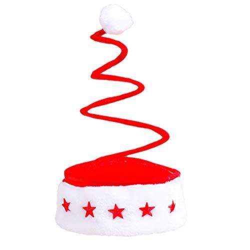 BESTOYARD Weihnachten Hut lustige Party Hüte Weihnachten Themen Cap Spiral Frühling Kopfschmuck Party Favors Foto Requisiten für Kinder Erwachsene