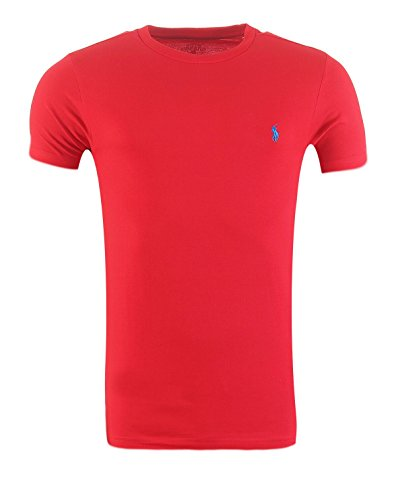 Ralph Lauren Shirt Rundkragen in Custom-Fit verschiedene Farben S - XXL (M, Rot)