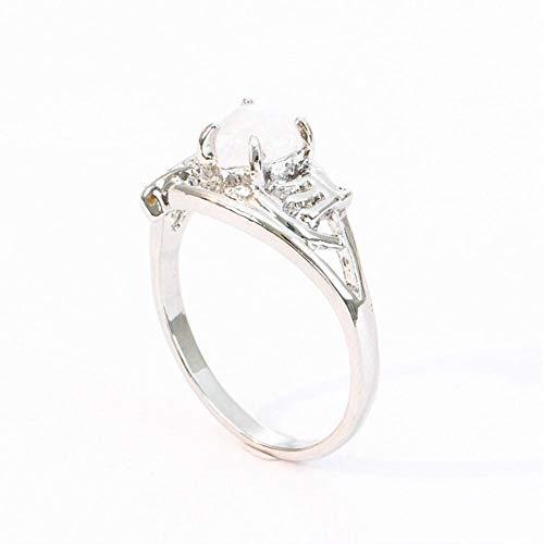 TOMMY LAMBERT Mutter Ring Opal Herz Brief Ring Mutter Geschenk Opal Opal Herz Ring Geschenk Mode Ringe Frauen Ringe Größe Frauen Ringe (Herzen Ringe Für Frauen Unter $5)