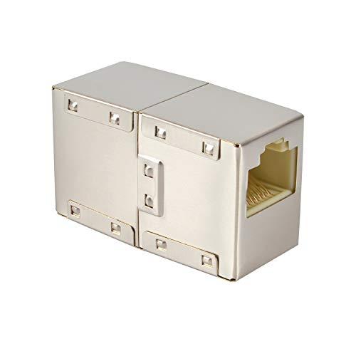 VESVITO RJ45 LAN Kabel Crossover Kupplung geschirmt Verbinder Netzwerk Netzwerkkabel Modular Coupling Patchkabel für Verlängerung Ethernetkabel Adapter Netzwerkkoppler -