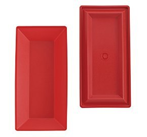 Tupperware Rectangular Chip Server & Dip Tray Red Only by Tupperware