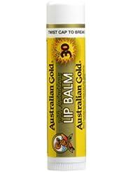 Australian Gold Baume pour les Lèvres Protection Solaire SPF 30 4 g - Lot de 4