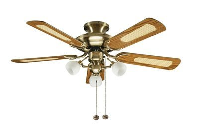 Fantasia Mayfair Ceiling Fan 42in Ant Brass With Light