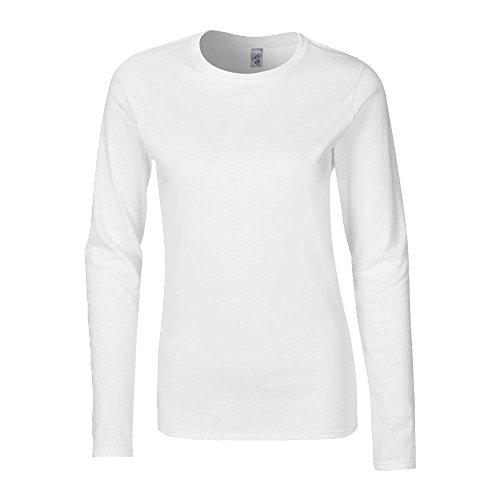 Gildan - Ladies Longsleeve Langarm T-Shirt M,Chalky