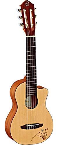 Ortega RGL5C - Guitarlele de caoba con cuello estrecho, 47 mm