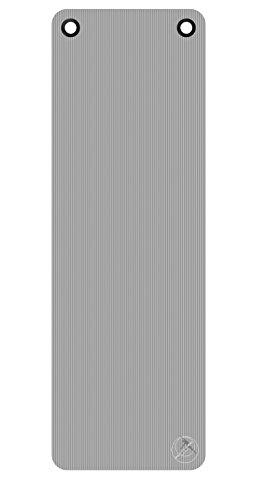 Gymnastikmatte / Yogamatte - ProfiGymMat 180 mit Ösen, 1.0 cm, grau
