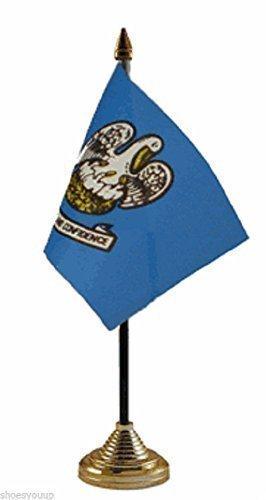 Louisiana USA Americano Stati Poliestere Tavolo Scrivania Bandiera 15,2x 10,2cm