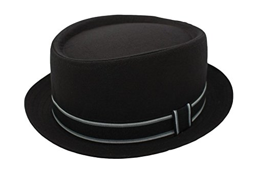 Cherry-on-Top - Sombrero Pork Pie - para hombre Gris negro Talla única c0929eca694