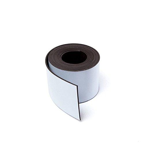 MTS Magnete Magnetisches Band für Schilder, zum Zuschneiden, 30mm breit weiß -