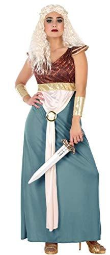 Fancy Me Damen Kostüm Sexy Mittelalterliche Game Queen Film TV Halloween Kostüm Outfit, UK 12-14, grün