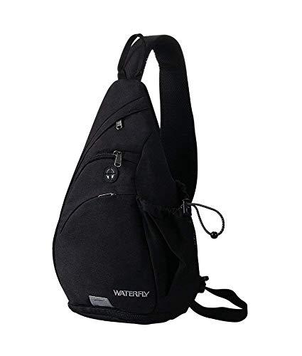 WATERFLY Sling Rucksack Sling Bag Schulterrucksack Umhängetasche Crossbag Kamerarucksack mit verstellbarem Schultergurt Perfekt für Outdoorsport, Wandern, Radfahren, Bergsteigen, Reisen - Schulter-rucksack