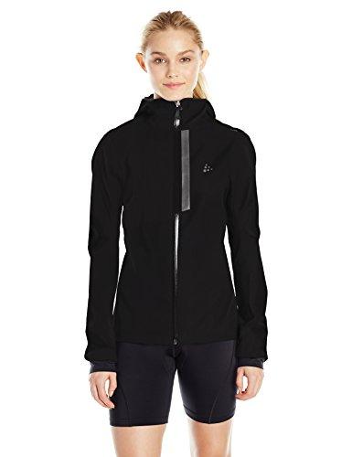 Craft Damen Ride Rain Jacket W Regenjacke, Black, M
